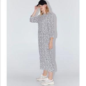 Zara polka dot maxi dress.